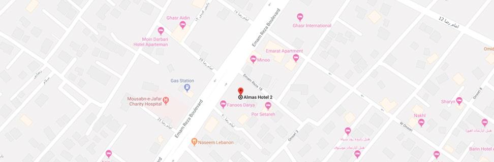 almas2 hotel map min - هتل الماس 2