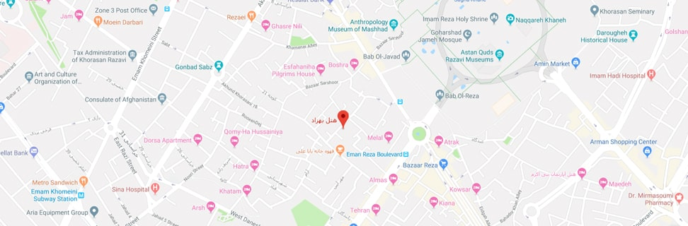 00 H A Behzad map min - هتل آپارتمان بهزاد