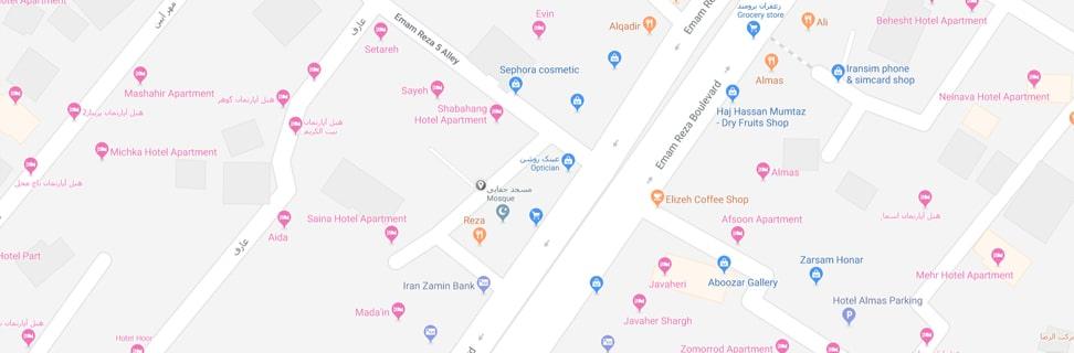 00 Hoseinie hazrat Khadije map min - حسینیه حضرت خدیجه