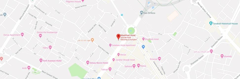 00 Mashhad Hotel map min - هتل مشهد