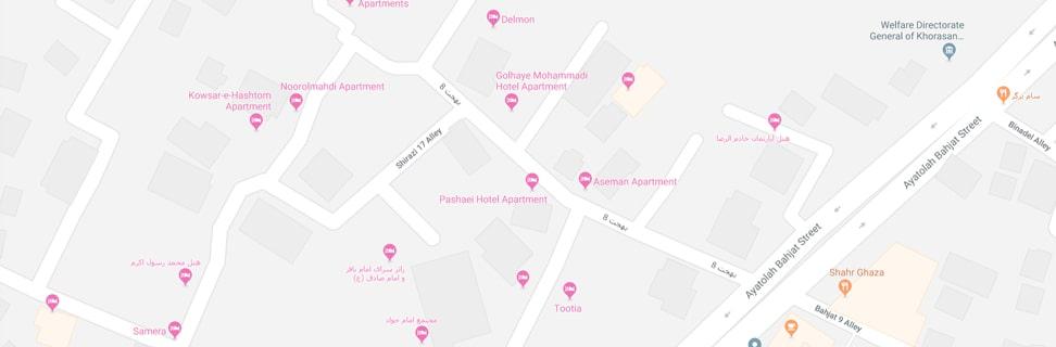 Soveiziha hotel map min - حسینیه سویزیها
