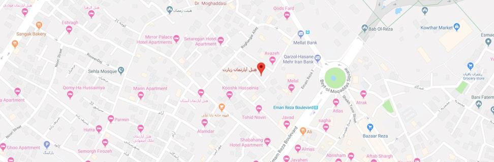 Ziarat hotel map min - هتل زیارت